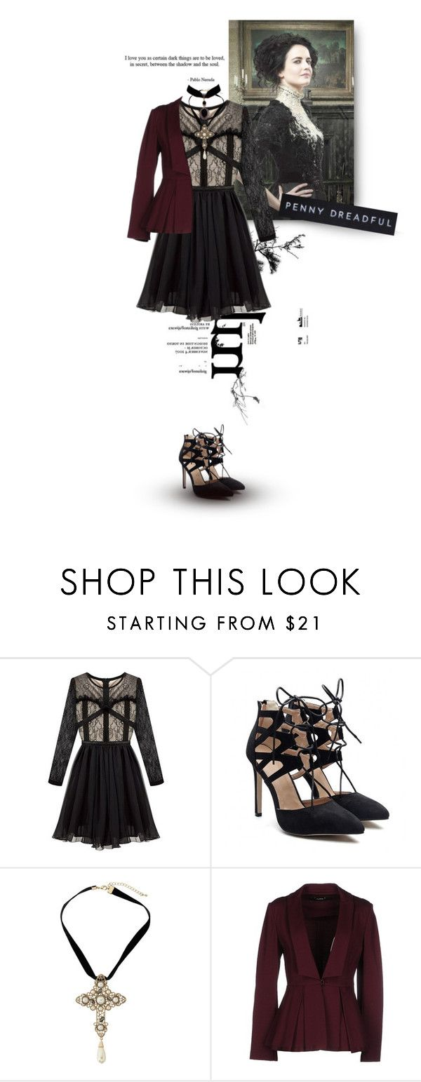 """""""Vanessa Ives - Penny Dreadful"""" by lily15 ❤ liked on Polyvore featuring Chicnova Fashion, Dorothy Perkins and Lupattelli"""