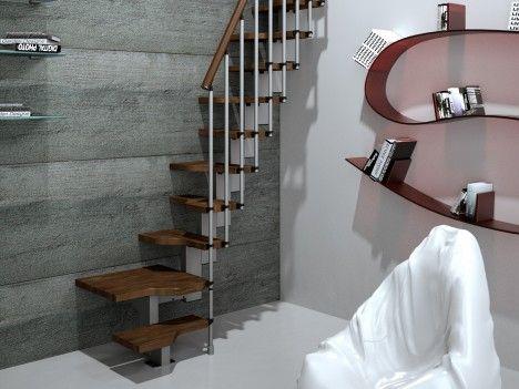 Las 25 mejores ideas sobre escaleras en espacios reducidos - Escalera caracol prefabricada ...