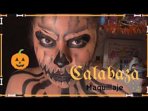 Maquillaje Calabaza / Pumpkin para HALLOWEEN- kamila cetina