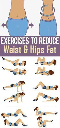 Exercises to Reduce Waist and Hips Fat..