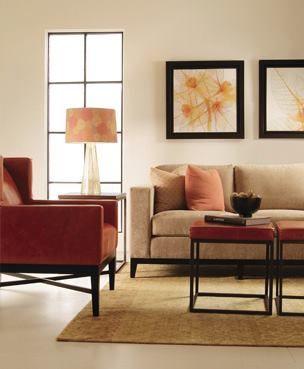 Davian Sofa | Prentiss Chair | Collister End Table #design #GlenandJamie #furniture