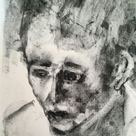 Charcoal drawing. Made By Anne Marie Tangen
