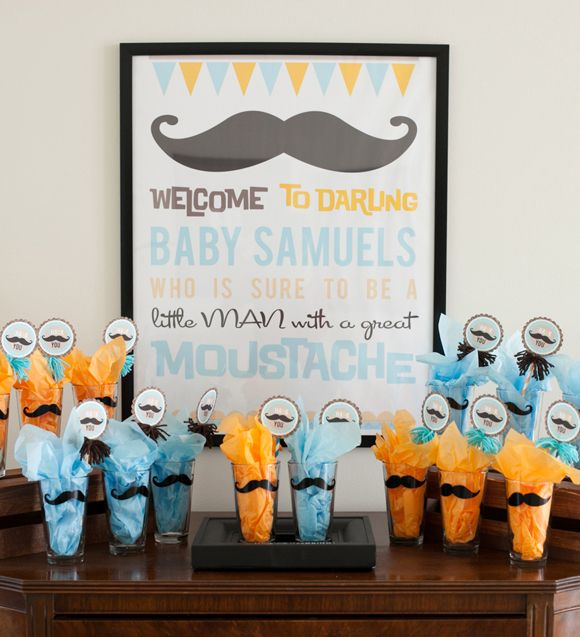 Baby Shower Mustache Theme: 70 Best Little Man Mustache Party Ideas Images On