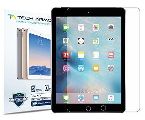 iPad Air Screen Protector Tech Armor High Definition HD-Clear Apple iPad Air / Air 2 Film Screen Protector [2-Pack]