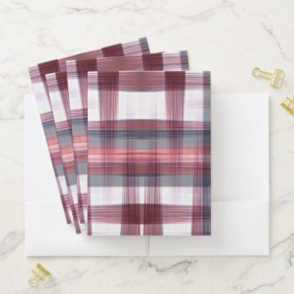 Red White & Blue Pattern | Pocket Folder - patterns pattern special unique design gift idea diy