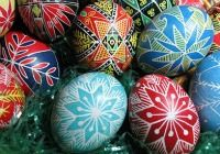 Traditional Hungarian hand decorated Easter eggs