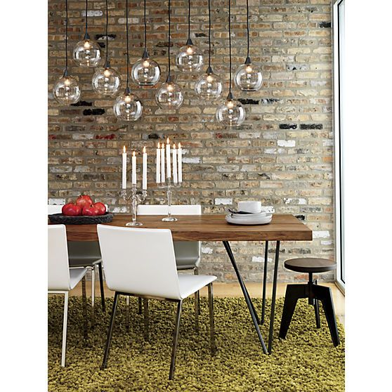 firefly pendant lamp in pendant lamps, wall sconces | CB2 . . .nice cost efficient light fixture, great table too.