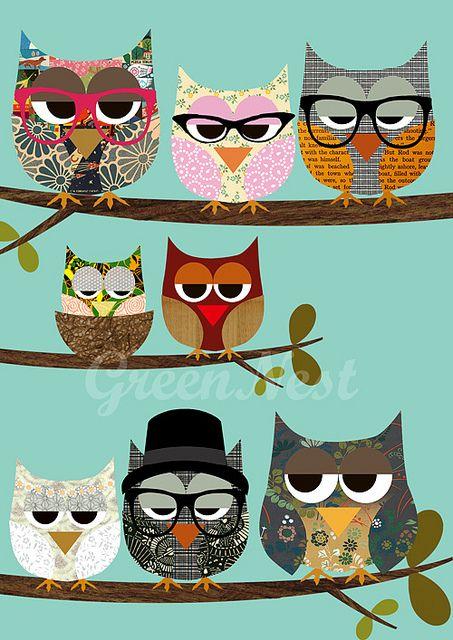 Cute idea for an owl quilt
