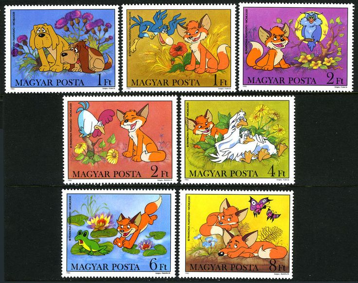 Hungary 2759-2765, MNH. Vuk the Fox Club, Cartoon by Attila Dargay, 1982