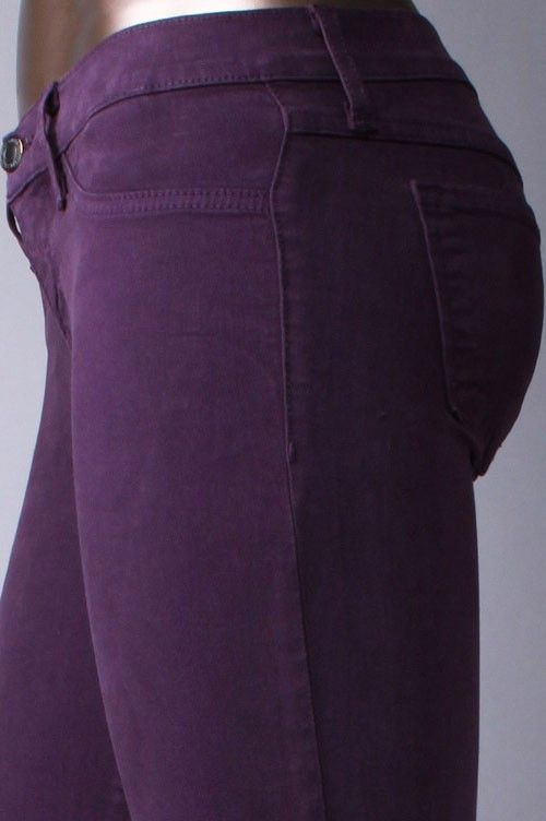 Plum Colored Skinny Jeans - exactly what I'm looking for