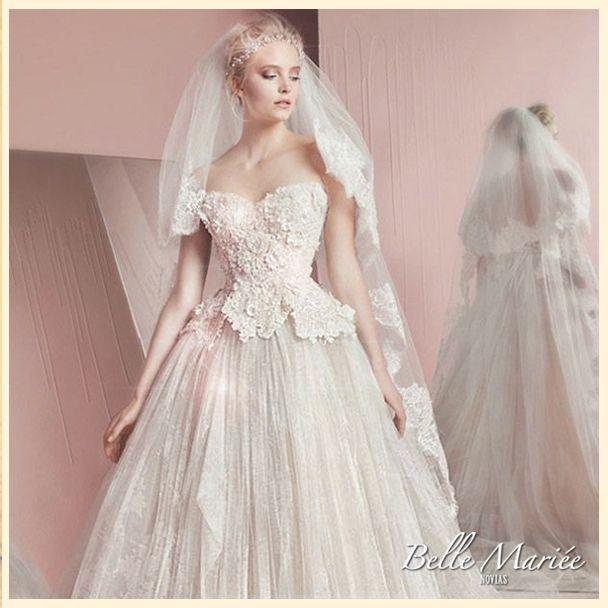 Mejores 115 imágenes de Vestidos de novia Princesa ❤ en Pinterest ...