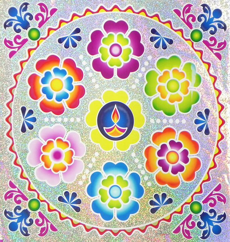1000 images about rangoli stickers and decals on for Floor rangoli design