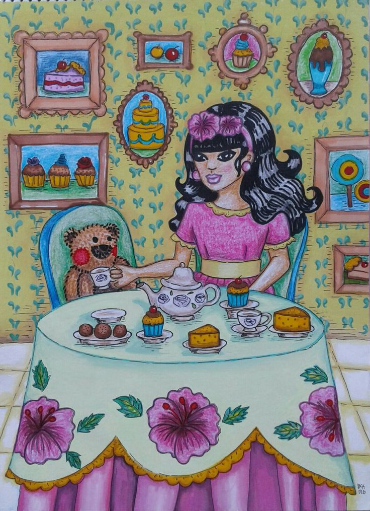 """The Sweets Room"",mix media on paper,2016"