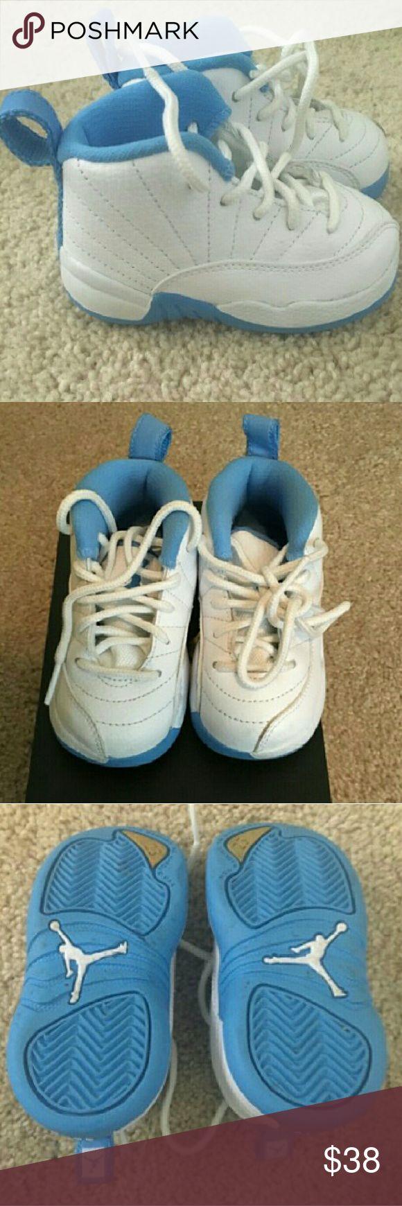 Jordans mToddler Toddler Carolina blue and white Jordans size 5c Jordan Shoes Sneakers