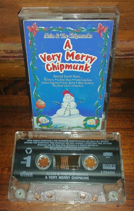 A Very Merry Chipmunk Vintage Music Cassette Tape Music Cassette