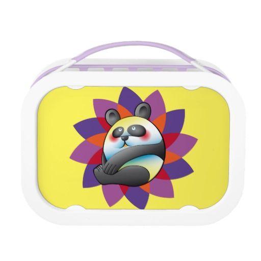 Lindo oso panda sobre colorida forma. Bear. Producto disponible en tienda Zazzle. Product available in Zazzle store. Regalos, Gifts. Link to product: http://www.zazzle.com/lindo_oso_panda_sobre_colorida_forma_lunch_box-256836247818486163?CMPN=shareicon&lang=en&social=true&rf=238167879144476949 #lonchera #LunchBox #oso #panda #bear