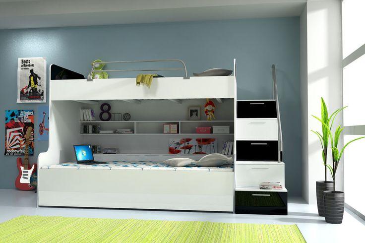 doppelstockbett etagenbett bett kinderbett jugendbett hochbett sofort lieferbar l e. Black Bedroom Furniture Sets. Home Design Ideas
