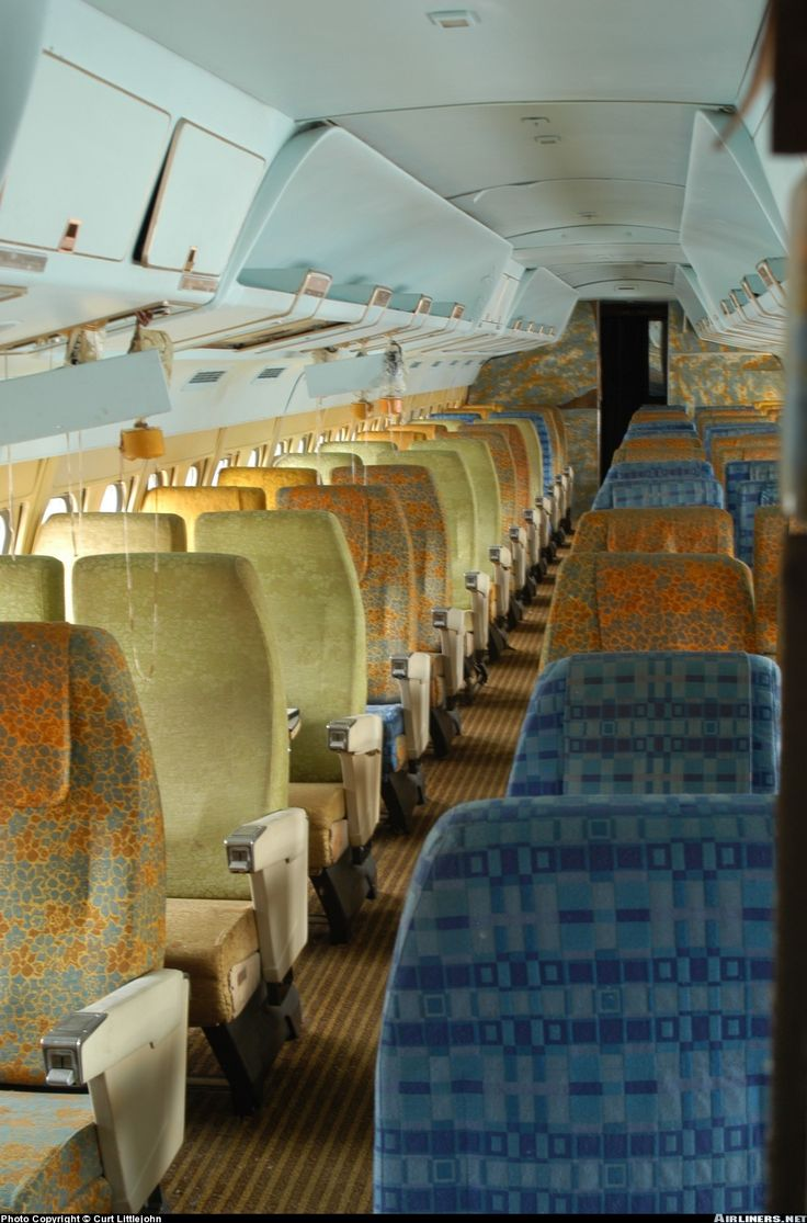 Convair 880 22 1 Aircraft Picture Coach Cabin Of N803tw