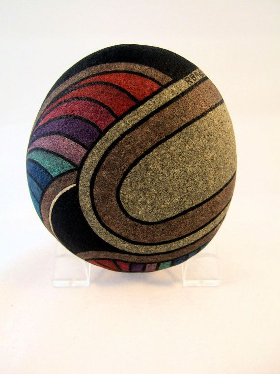 Hand Painted Rock Signed Numbered Collectible Art by IshiGallery