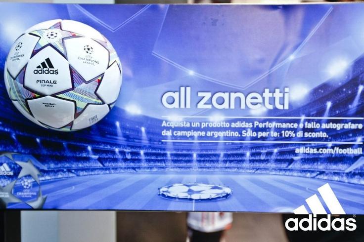 "all zanetti @adidas Performace Store Milano (25/11/11 Milan,Italy) ""all zanetti""  #inter #uefachampionsleague #adidas #milan #javierzanetti"