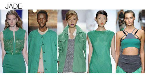 Top color. Womens Spring 2012 trend report, jade