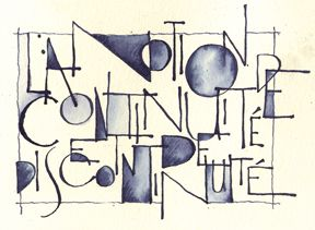 lettering by  Lorna Mulligan, an artist and calligrapher from Montreal, for Ordre et Desordre exhibition  lornamulligan.com  #calligraphy #lettering