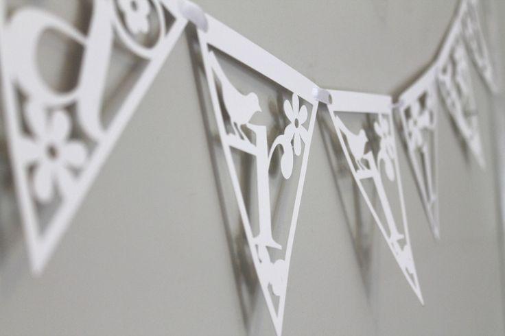 Image of Papercut Alphabet Bunting