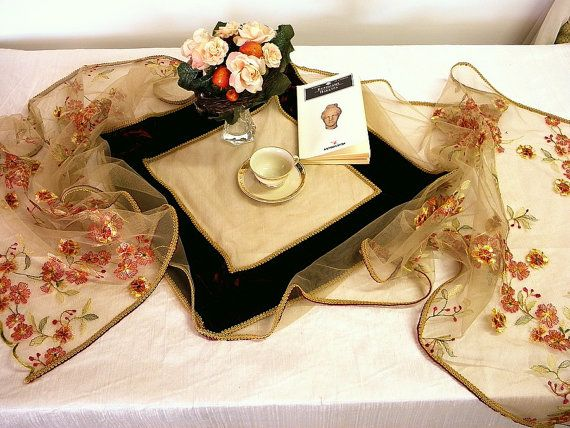 Very long table runner high-end 99 inches by ClassyInteriorsDeco