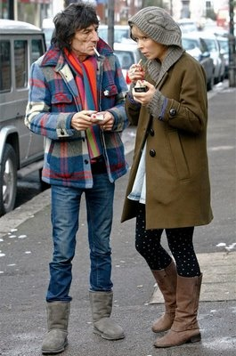 Ronnie Wood House Hunting in Grey UGGs UGG Boots with Ekaterina Ivanova