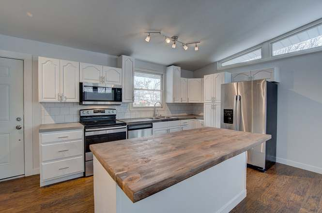 Denver Co 80221 Kitchen Flip Concrete Countertops Butcher Block