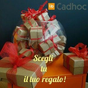 Cadhoc rende protagonista: chi lo riceve sceglie il suo regalo. Chiedi informazioni, chiama il Numero Verde 800834009