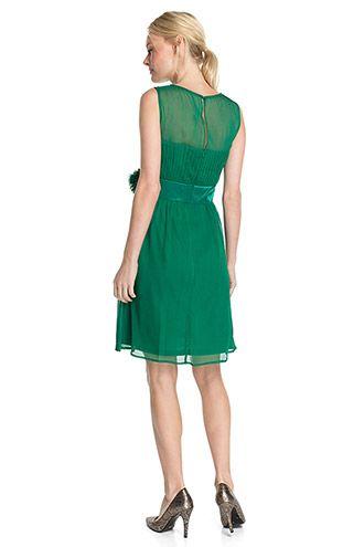 Esprit / Soepele chiffon jurk met crinkle look
