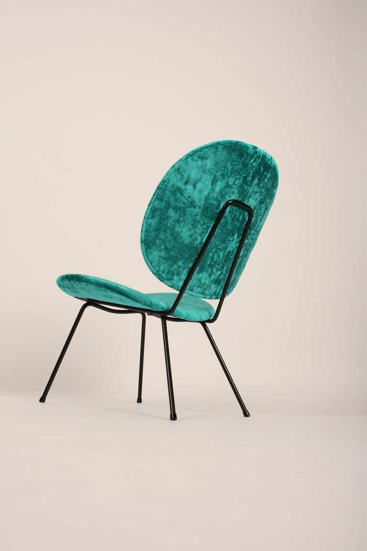 William H. Gispen; Enameled Metal Easy Chair for Kembo, c1955.