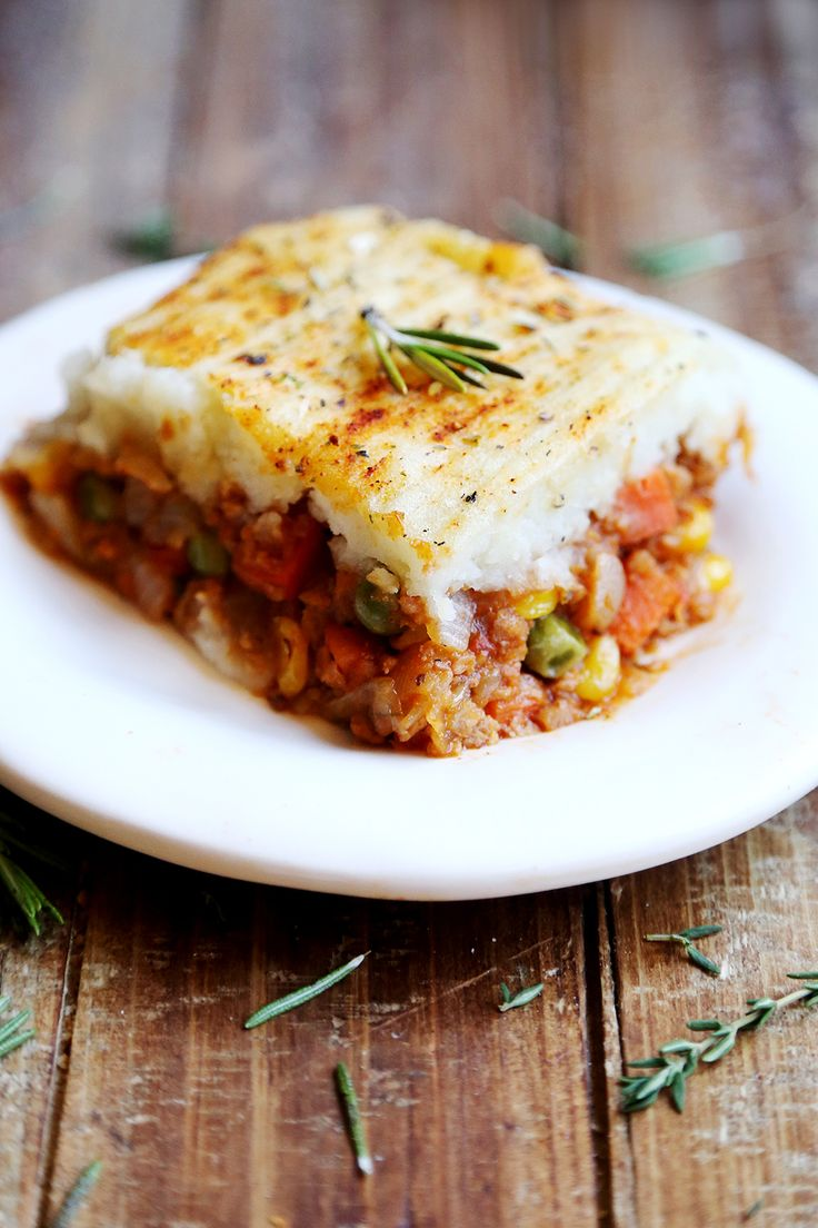 Vegan shepards pie! you can do alot to funk it up, use sweet potato, carrots or parsnip in the mash! gravy or tomato sauce in the mincy mix