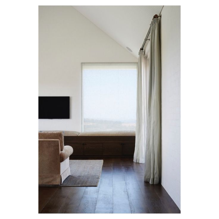 Vintage Smoked | Classic collection, soft tones, sheer curtains and dark floors