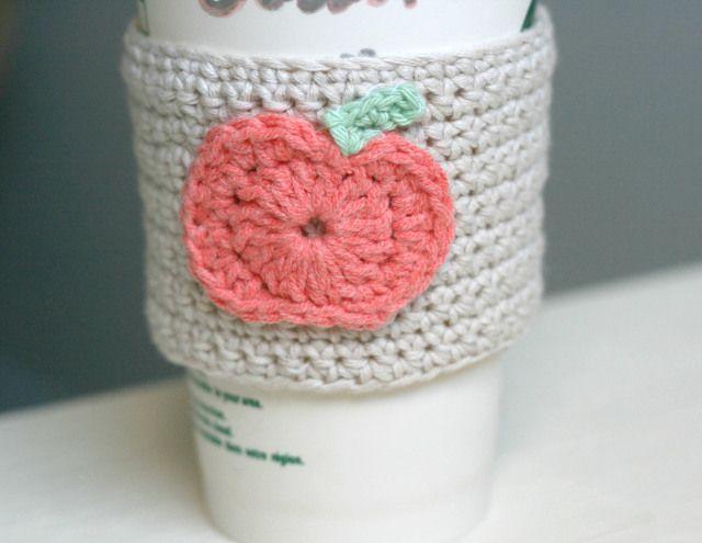 crochet-pumpkin-coffee-sleeve- | Patterns | Pinterest