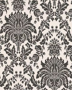 Graham and Brown Graham and Brown 17153 Elizabeth Wallpaper, Black and White - N