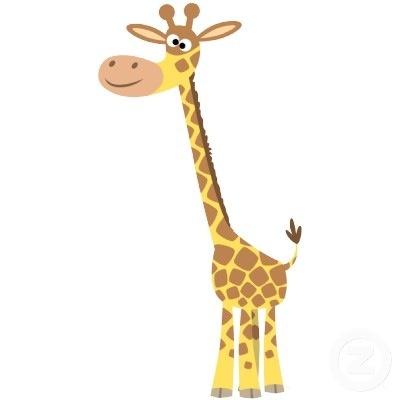 Cartoon Giraffe My Favorite Animal Giraffes