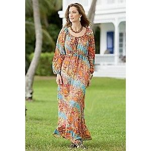 Peasant maxi dress plus size - Dressed for less