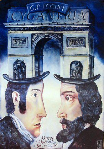 Cyganeria ( La Bohème) by Giacomo Puccini – Opera Poster by Leszek Zebrowski