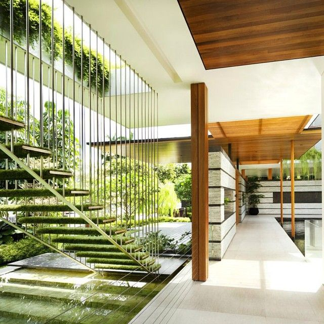 The Willow House is a private residence designed by Guz Architect - Singapore. Perfect connection between architecture and nature.. Love this project!!! #dsigners #design #designer #architect #architecture #guz #style #willowhouse #nature