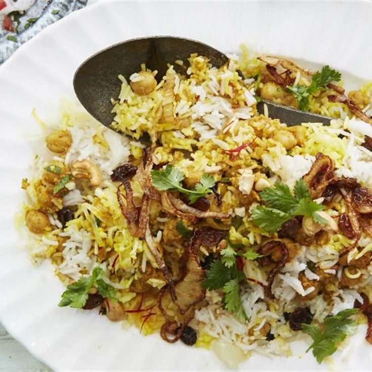 Try this Chickpea Biryani  recipe by Chef Anjum Anand .