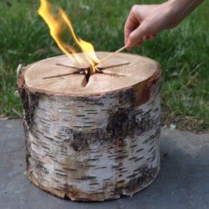 One match to light, Light 'n' Go Bonfire Log
