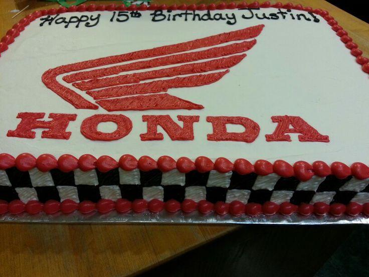 Honda logo with racing flag sides.