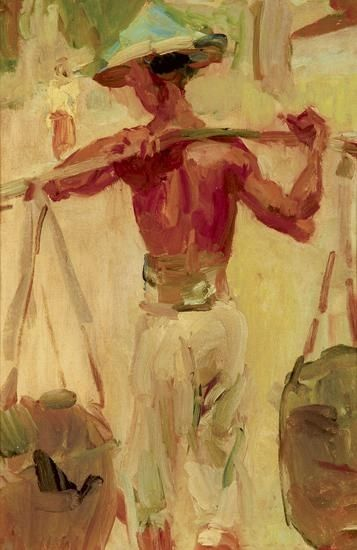 Artwork by Isaac Israëls, Water Carrier, 1922-1923 Made of Oil on canvas
