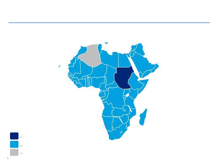 Mapas de África editables en PowerPoint