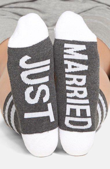 ARTHUR GEORGE by Robert Kardashian JUST MARRIED Wedding SOCKS Grey/White (5-11) #ArthurGeoreg #CrewSocks