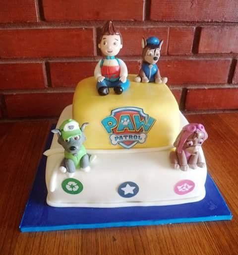 #PawPatrol #fondant #cake   #instacake #puq #Chile #VolovanProductos #Cakes #Cakestagram #SweetCake #chase #Ryder #sky #rocky