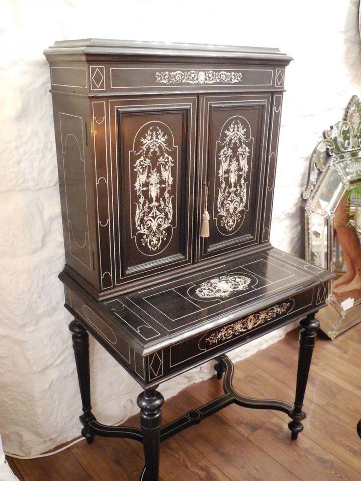les 94 meilleures images du tableau mobilier xixe si cle sur pinterest meubles anciens meuble. Black Bedroom Furniture Sets. Home Design Ideas