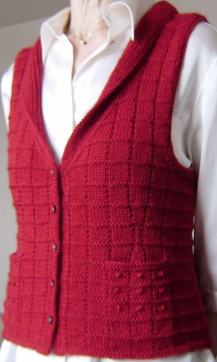 Easy Knitting Patterns Women's Vests